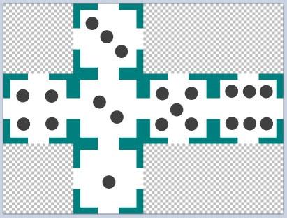 Игральный кубик можно сделать